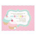 Cupcake Fun Colorful Birthday Party Personalized Invitations