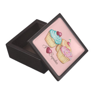Cupcake gift Box-I love cupcakes Premium Jewelry Box