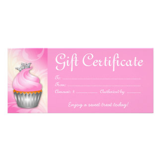 Bakery Certificate Cupcake Rack Cards Zazzle
