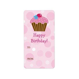 Cupcake Gift Label label