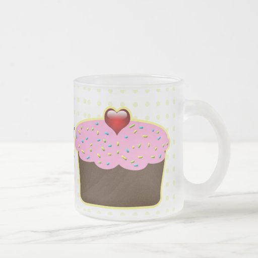 cupcake gifts 10 oz frosted glass coffee mug