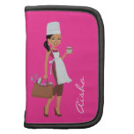 Cupcake Girl Personalized Character Folio Organizers
