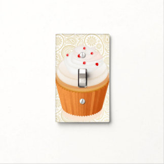 Cupcake & Gold Paisley - Switch Plate Light Switch Covers