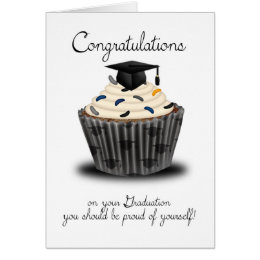Cupcake Graduation Congratulations Card