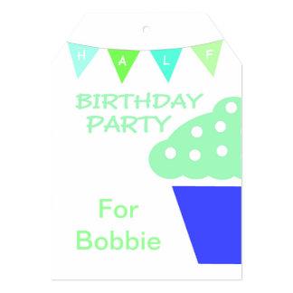 Cupcake Half Birthday Party Invitation