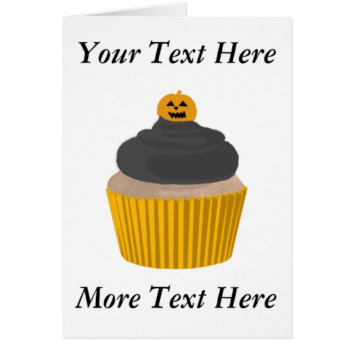 Cupcake-Halloween Card