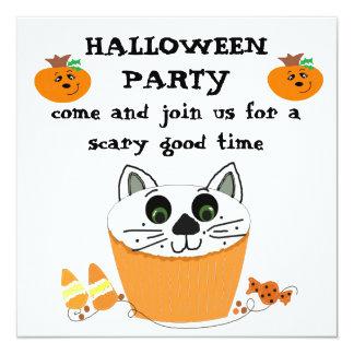 Cupcake Halloween Party Invitation