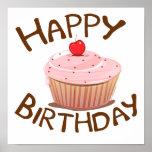 Cupcake Happy Birthday Posters
