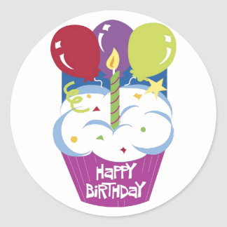 Cupcake Happy Birthday Sticker