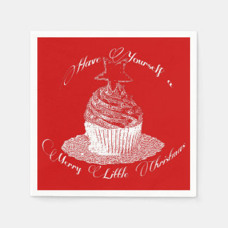 Cupcake/Have Yourself a Merry Little Christmas Napkin