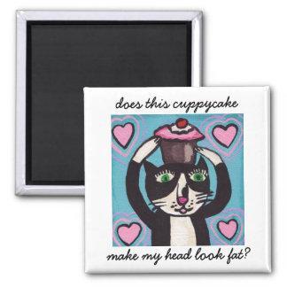 Cupcake Head Kitty Magnet