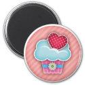 Cupcake Heart Magnet magnet