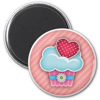 Cupcake Heart Magnet