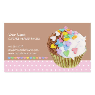 Cupcake Hearts Business Card