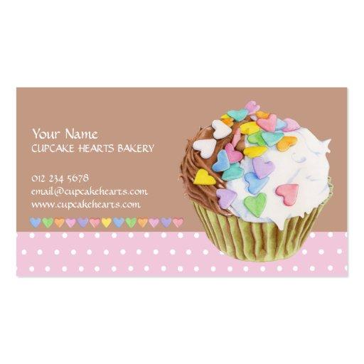 Cupcake Hearts Business Card