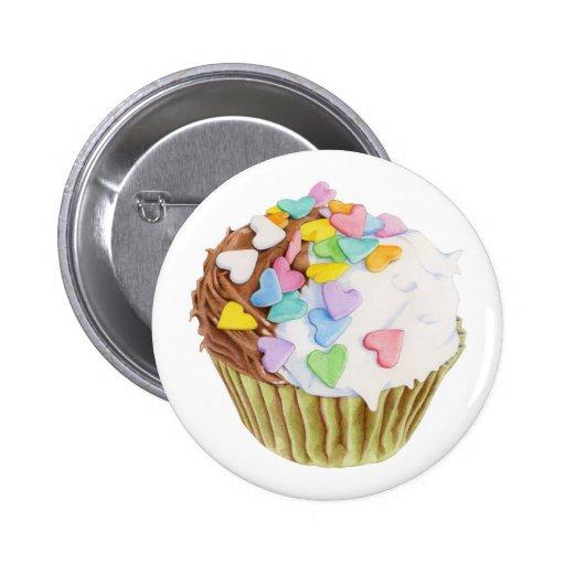 Cupcake Hearts Button
