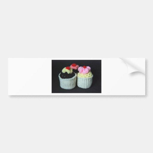 cupcake heaven bumper sticker