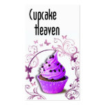 """Cupcake Heaven"" - Confections Desserts Pastries Business Card Templates"