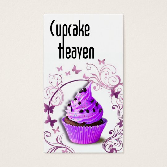 """""""Cupcake Heaven"""" - Confections Desserts Pastries Business Card"""