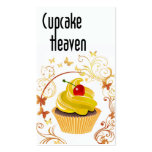 """""""Cupcake Heaven"""" - Confections Desserts Pastries Business Card Templates"""