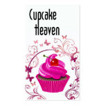 """""""Cupcake Heaven"""" - Confections Desserts Pastries Business Card Template"""