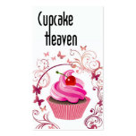"""Cupcake Heaven"" - Confections Desserts Pastries Business Card Template"