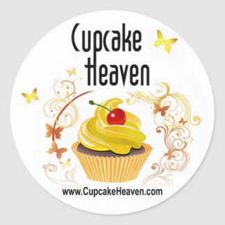 """""""Cupcake Heaven"""" - Confections Desserts Pastries Classic Round Sticker"""