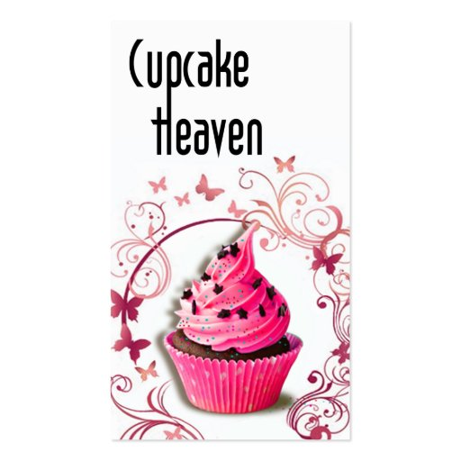 """""""Cupcake Heaven"""" - Confections Desserts Pastries Double-Sided Standard Business Cards (Pack Of 100)"""
