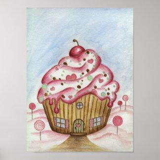 Cupcake House Poster