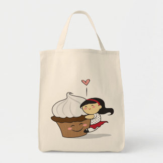 Cupcake Hugger - Black Tote Bag