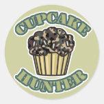 Cupcake Hunter Classic Round Sticker
