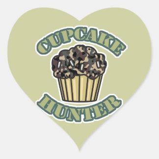 Cupcake Hunter Heart Sticker