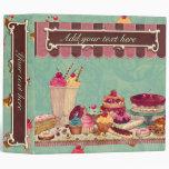 Cupcake & Ice Cream Binder Notebook
