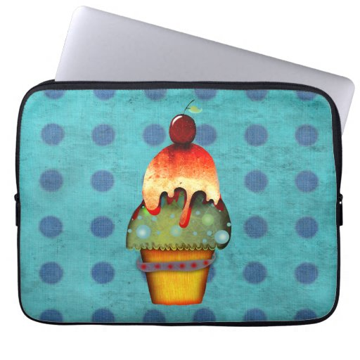 Cupcake ice cream Neoprene Bag Computer Sleeves