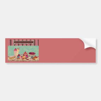 Cupcake & Ice Cream Patisserie Car Bumper Sticker