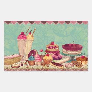 Cupcake & Ice Cream Treats Stickers