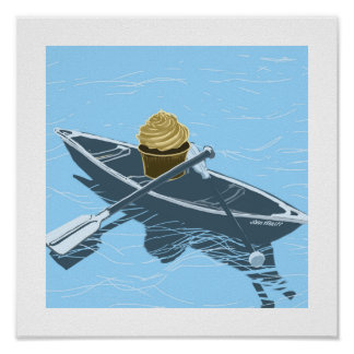 Cupcake in a Canoe print