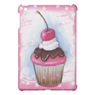 Cupcake in Pastel on Pink Background iPad Mini Cases