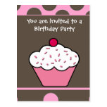 Cupcake invitation cards post card