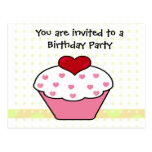 Cupcake invitation cards post cards