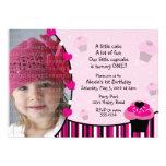 Cupcake Invitation or Thank You Card