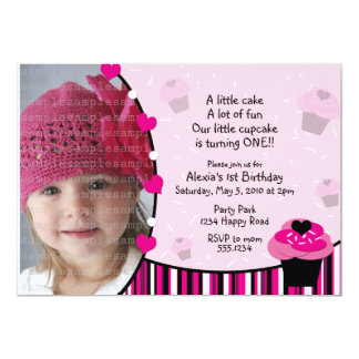 Cupcake Invitation or Thank You Card