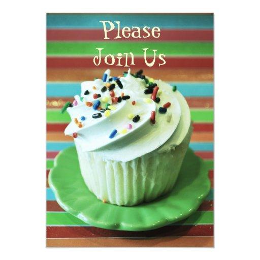 cupcake invitation template zazzle