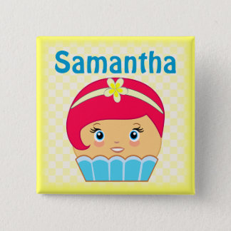Cupcake Kawaii Cute Blue Couture Character Buttons