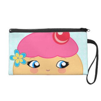 Cupcake Kawaii Pink Couture Wristlet Purse Bags