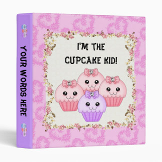 Cupcake Kid Binder