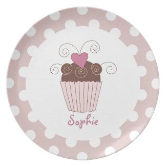 Cupcake Kids Plate