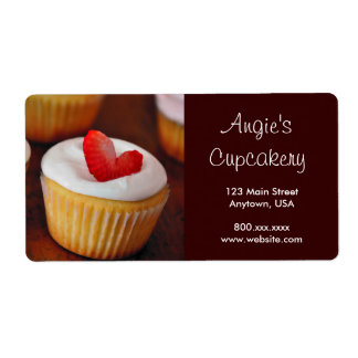 Cupcake Personalized Shipping Labels