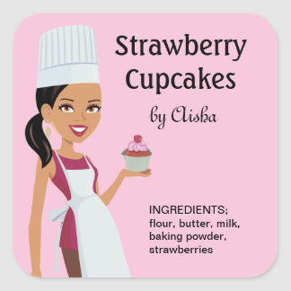 Cupcake Labels with Character Design #1
