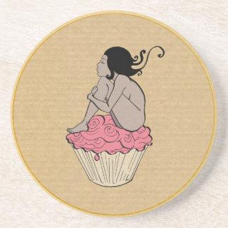 Cupcake Lady Beverage Coasters